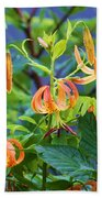 Country Flowers Beach Towel