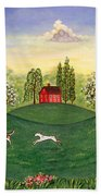 Country Frolic Two Beach Towel