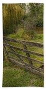 Country - Gate - Rural Simplicity  Beach Towel