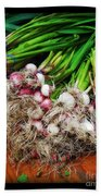 Country Kitchen - Onions Beach Towel