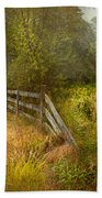 Country - Landscape - Lazy Meadows Beach Towel by Mike Savad