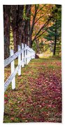 Country Lane Fall Foliage Vermont Beach Towel