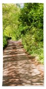 Country Lane Painting Beach Towel