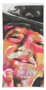 Country Music Artist...willie Nelson Beach Towel