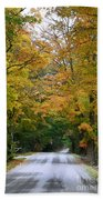 Country Road Fall Vermont Beach Towel