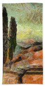 A Sunset In Tuscany Beach Towel
