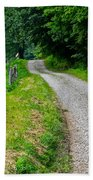 Country Road Beach Towel by Frozen in Time Fine Art Photography