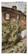 Old English Cottage Beach Towel