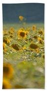 Country Sunflowers Beach Towel