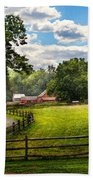 Country - The Pasture  Beach Towel by Mike Savad
