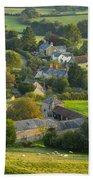 Country Village - England Beach Towel