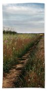 Countryside Tracks Beach Towel