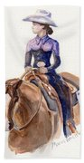 Horse Painting Cowgirl Courage Beach Towel