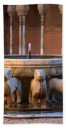 Court Of The Lions In The Alhambra Beach Towel