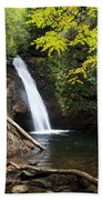 Courthouse Falls In North Carolina Beach Towel