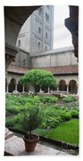 Courtyard At The Cloisters Beach Towel
