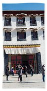 Courtyard Entry To Potala Palace In Lhasa-tibet Beach Towel
