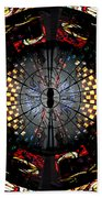 Coventry Cathedral Windows Montage Beach Towel