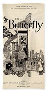 Cover Of The Butterfly Magazine Beach Towel