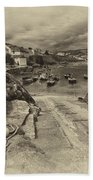 Coverack Harbour  Beach Towel