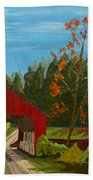 Covered Bridge Beach Towel