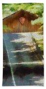 Covered Bridge In Sleeping Bear Dunes National Lakeshore Beach Towel