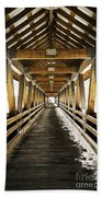 Covered Bridge Littleton New Hampshire Beach Towel