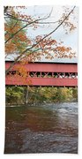 Covered Bridge Over Swift River Beach Towel