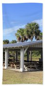 Covered Picnic Tables Beach Towel