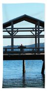Covered Pier At Port Townsend Beach Towel