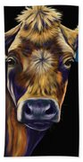 Cow Art - Lucky Number Seven Beach Towel