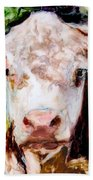 Cow Face Beach Towel