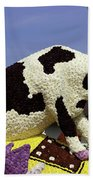 Cow On Clog 3 Beach Towel