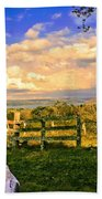 Cow Out To Pasture In Costa Rica Beach Towel