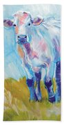 Cow Painting Beach Towel