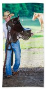 Cowboy 2 Beach Towel