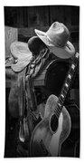 Cowboy Acoustic Guitar Beach Towel