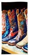 Cowboy Boots Beach Towel