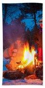 Cowboy Campfire Beach Towel