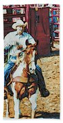 Cowboy On Paint Beach Towel