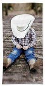 Cowboy Beach Towel by Scott Pellegrin
