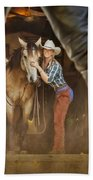 Cowgirl And Cowboy Beach Towel
