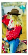 Cowgirl Waiting Beach Towel