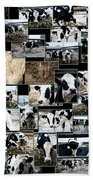 Cows Collage Beach Towel