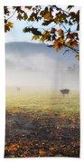 Cows In The Fog Beach Towel