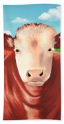 Cows Out To Pasture Beach Towel