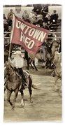 Cowtown Grand Entry Beach Towel