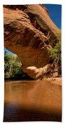 Coyote Natural Bridge - Coyote Gulch - Utah Beach Towel by Gary Whitton
