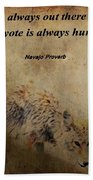 Coyote Proverb Beach Towel