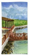 Cozumel Mexico Little Pier Beach Towel